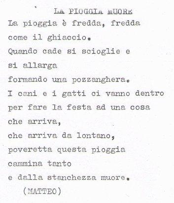 Poesia La Pioggia The Rain 5a Elementare